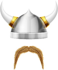 Viking Helmet and Mustache