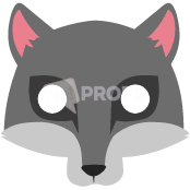 Load image into Gallery viewer, Wolf Mask