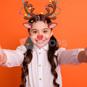 Antlers with Lights and Nose