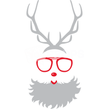 Load image into Gallery viewer, Santa Beard with Glasses and Antlers