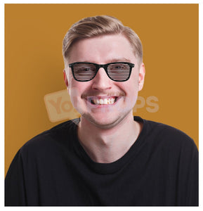Black Slotted Glasses