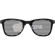 Load image into Gallery viewer, Black Slotted Glasses