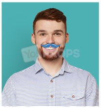 Load image into Gallery viewer, Blue Mustache