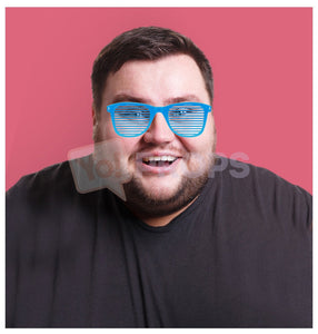 Blue Slotted Glasses