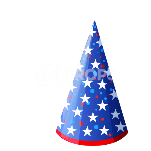 Blue Star Cone Hat