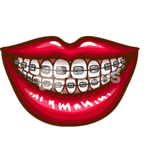 Load image into Gallery viewer, Mouth with Braces