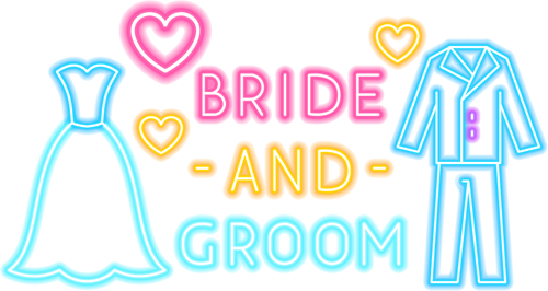 Bride Groom Neon