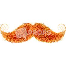 Load image into Gallery viewer, Red Curly Mustache