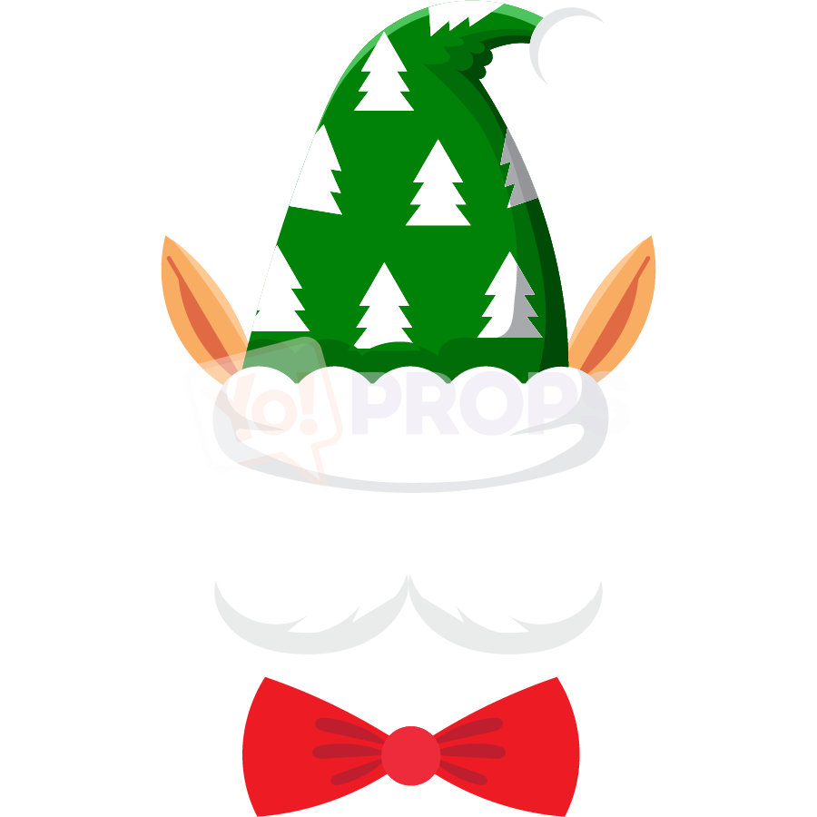 Elf Hat with Ears and Bowtie