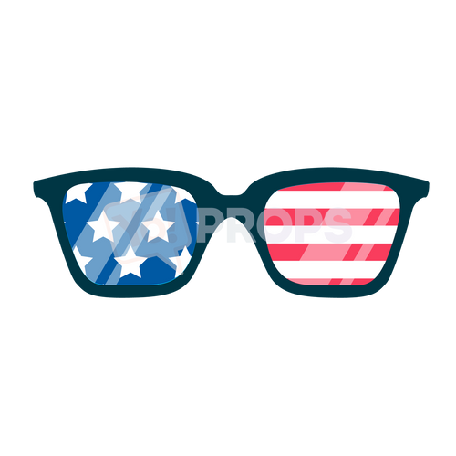 American Flag Glasses
