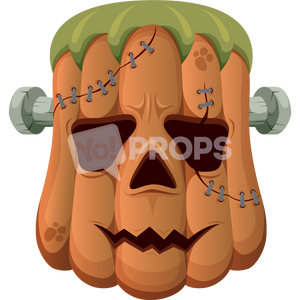 Frankenstein Pumpkin Head