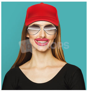 Girl with Baseball Hat and Glasses