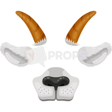 Load image into Gallery viewer, Goat Mask