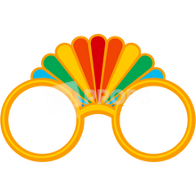 Load image into Gallery viewer, Gold Rainbow Glasses