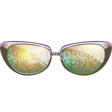 Load image into Gallery viewer, Gold Sparkle Glasses