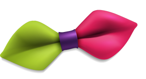 Green and Pink Bow-tie