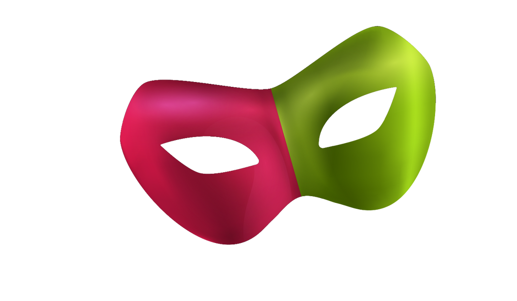 Green and Pink Mask
