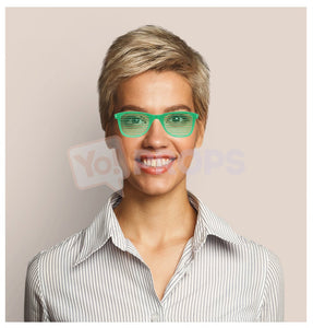 Green Slotted Glasses