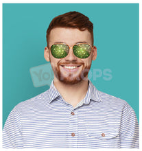 Load image into Gallery viewer, Green Sparkle Glasses