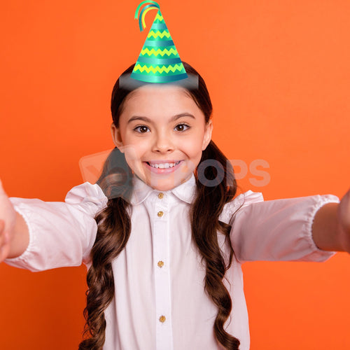 Green Striped Party Hat