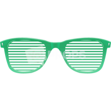 Load image into Gallery viewer, Green Slotted Glasses