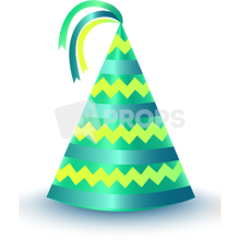 Load image into Gallery viewer, Green Striped Party Hat