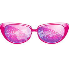 Load image into Gallery viewer, Pink Sparkle Glasses