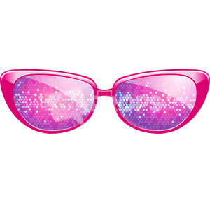 Pink Sparkle Glasses