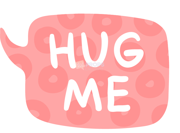 Hug Me Speech Bubble