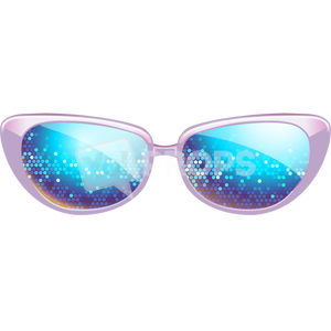 Purple Sparkle Glasses