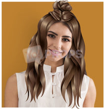 Load image into Gallery viewer, Long Brown Hair with Bun
