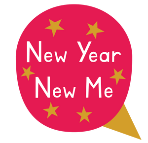 New Year, New Me Speech Bubble