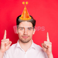 Load image into Gallery viewer, Orange Party Hat