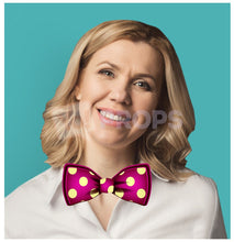 Load image into Gallery viewer, Pink Polka Dot Bowtie