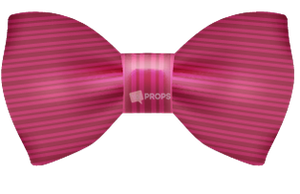 Pink Striped Bowtie