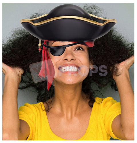 Pirate Hat with Bandana and Eyepatch