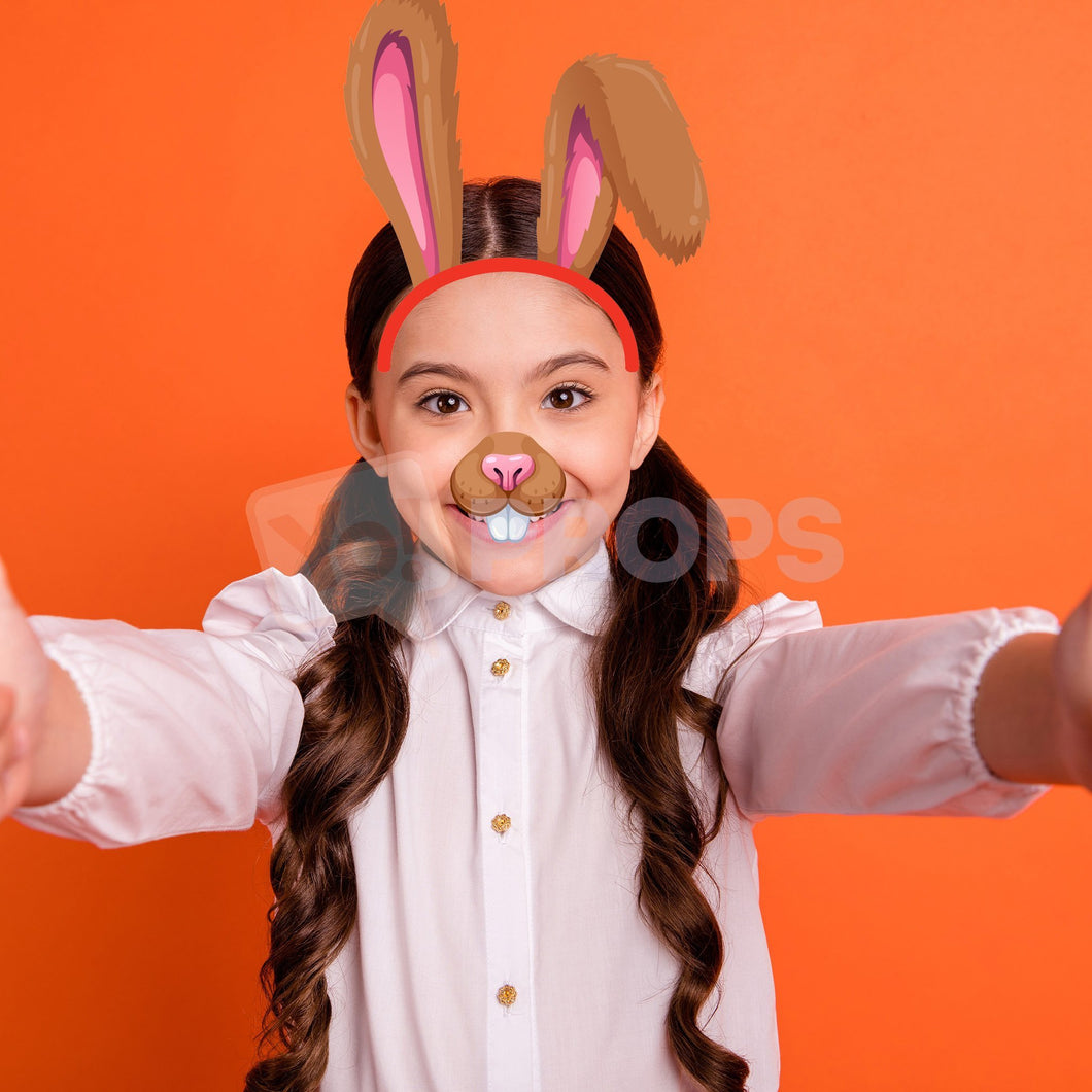 Rabbit Headband and Nose