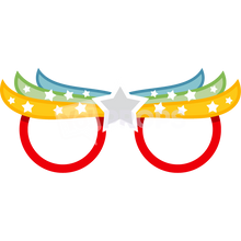 Load image into Gallery viewer, Rainbow Star Glasses