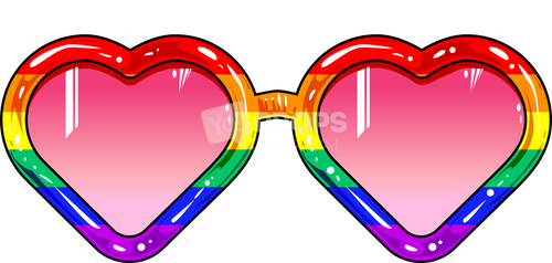 Rainbow Heart Glasses