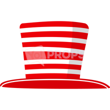 Load image into Gallery viewer, Red and White Striped Hat