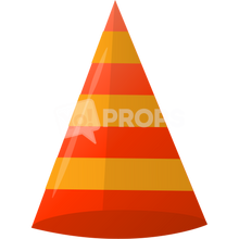 Load image into Gallery viewer, Red Striped Cone Hat