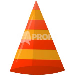 Red Striped Cone Hat