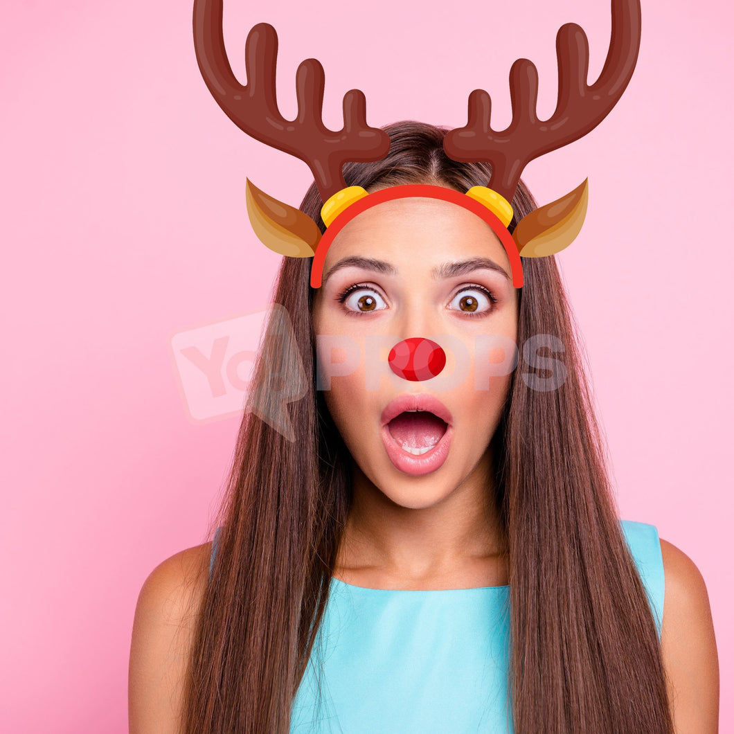 Reindeer Headband with Nose 2