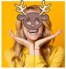 Load image into Gallery viewer, Reindeer Mask