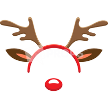 Load image into Gallery viewer, Reindeer Headband with Nose