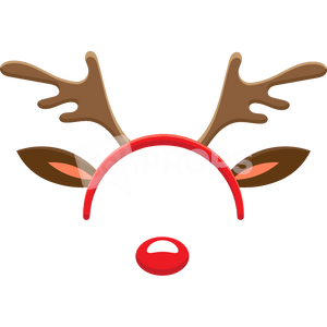 Reindeer Headband with Nose