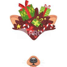 Load image into Gallery viewer, Bear Hat with Presents and Nose