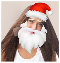 Load image into Gallery viewer, Santa Hat and Beard 2