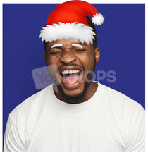 Load image into Gallery viewer, Santa Hat with Eyebrows