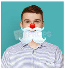 Load image into Gallery viewer, Santa Nose and Beard